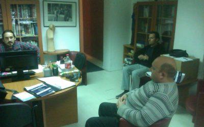 Двајца претставници на здружението Призма – Центар за општествени истражувања и развој