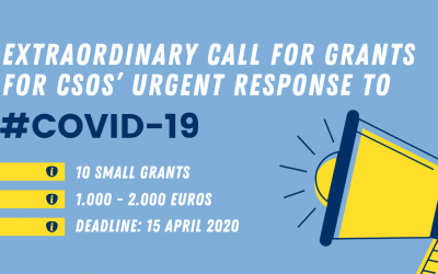 Extraordinary Call for grants for CSOs' urgent response to COVID-19